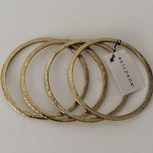 Silpada hammered gold bangle bracelet